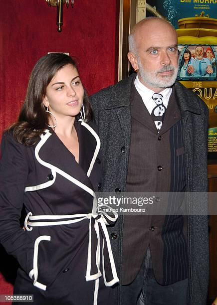 "Nina Clemente and Francesco Clemente during ""The Life Aquatic with Steve Zissou"" New York Premiere - Inside Arrivals at Ziegfeld Theater in New York..."