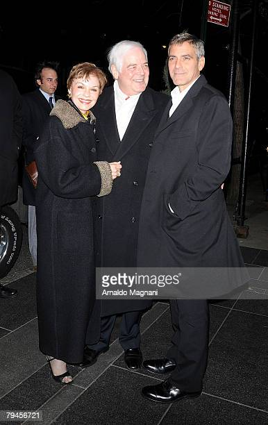 Nina Clooney Nick Clooney and George Clooney go out for dinner on January 31 2008 in New York City