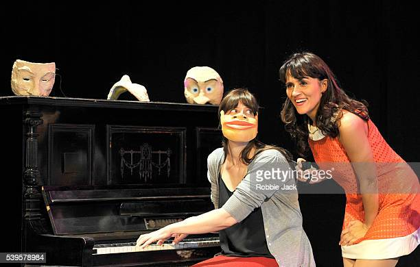 Nina Conti performs her show In Your Face with a member of the audience at the Criteron Theatre in London