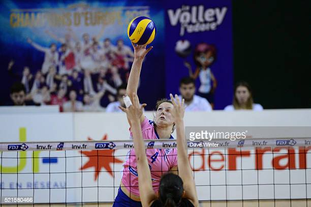 Nina Coolman of Stade Francais Paris Saint Cloud during the Ligue A Quarter Final Play Off match between Stade Francais Paris Saint Cloud and Le...