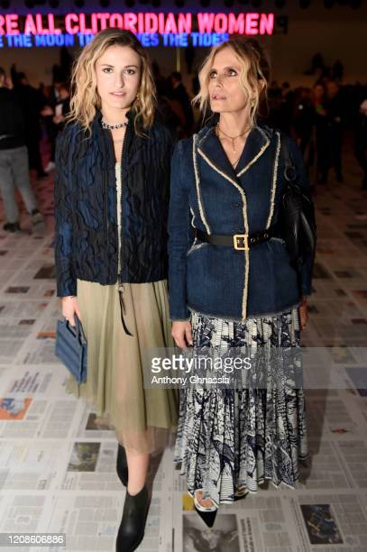 Nina De Maria and Isabella Ferrari attend the Dior show as part of the Paris Fashion Week Womenswear Fall/Winter 2020/2021 on February 25 2020 in...