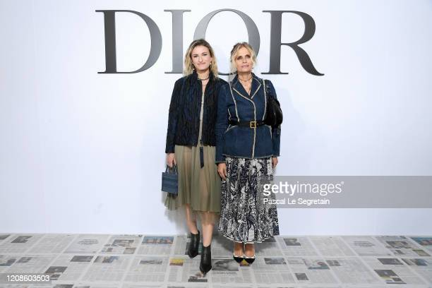 Nina De Maria and Isabella Ferrari attends the Dior show as part of the Paris Fashion Week Womenswear Fall/Winter 2020/2021 on February 25 2020 in...