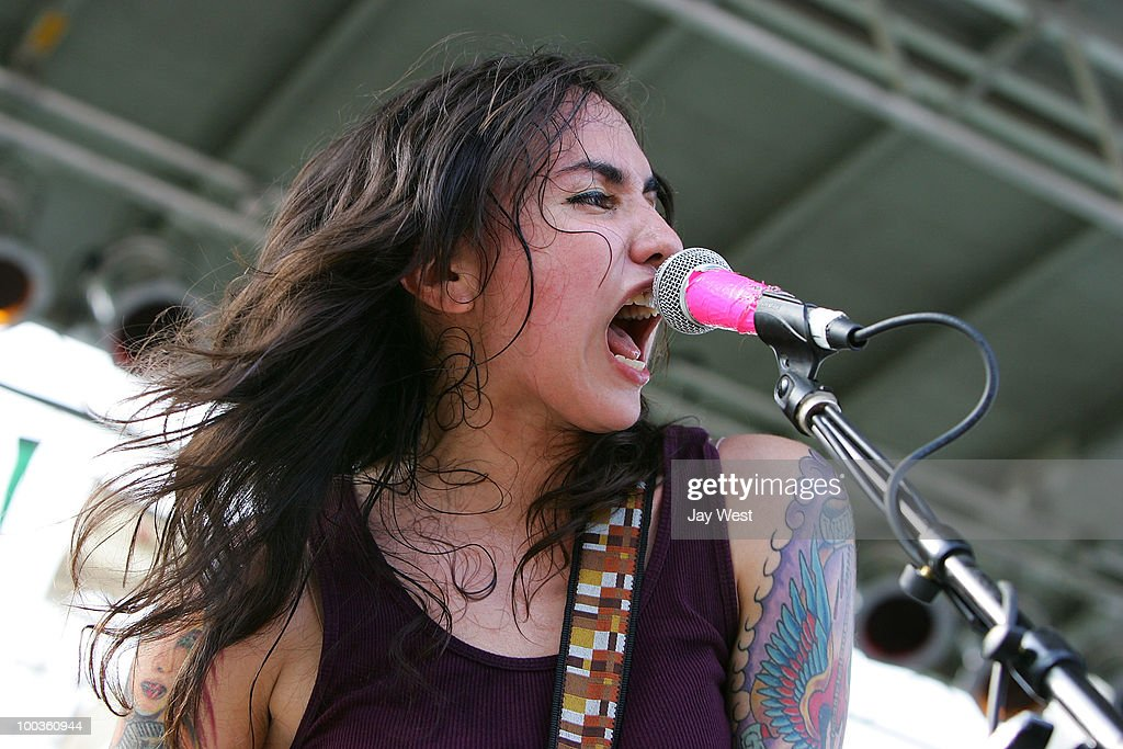 Nina Diaz of Girl In A Coma performs at Pachanga Latino Music Festival at Fiesta Gardens on May 22, 2010 in Austin, Texas.