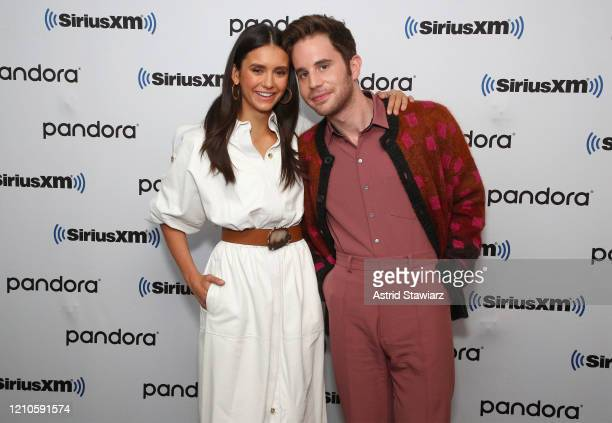 Nina Dobrev and Ben Platt visit the SiriusXM Studios on March 05 2020 in New York City