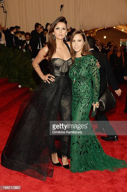 Nina Dobrev and Monique Lhuiller attend the Costume Institute Gala for the PUNK Chaos to Couture exhibition at the Metropolitan Museum of Art on May...