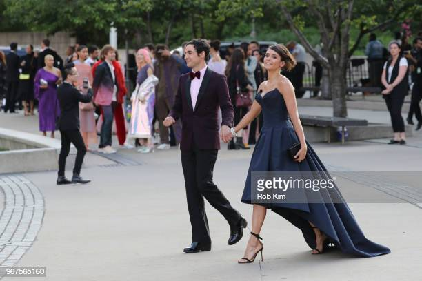 Nina Dobrev and Zac Posen arrive for the 2018 CFDA Fashion Awards at Brooklyn Museum on June 4 2018 in New York City