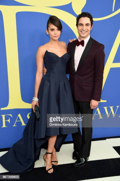 Nina Dobrev and Zac Posen attend the 2018 CFDA Fashion Awards at Brooklyn Museum on June 4 2018 in New York City