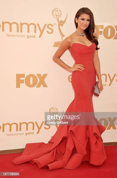 Nina Dobrev arrives at the Academy of Television Arts Sciences 63rd Primetime Emmy Awards at Nokia Theatre LA Live on September 18 2011 in Los...