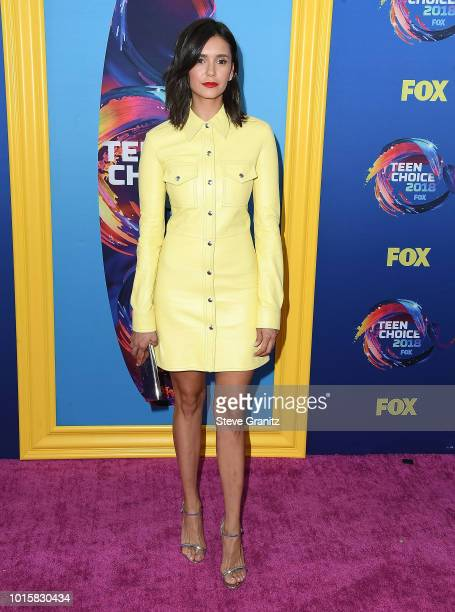 Nina Dobrev arrives at the FOX's Teen Choice Awards 2018 at The Forum on August 12 2018 in Inglewood California