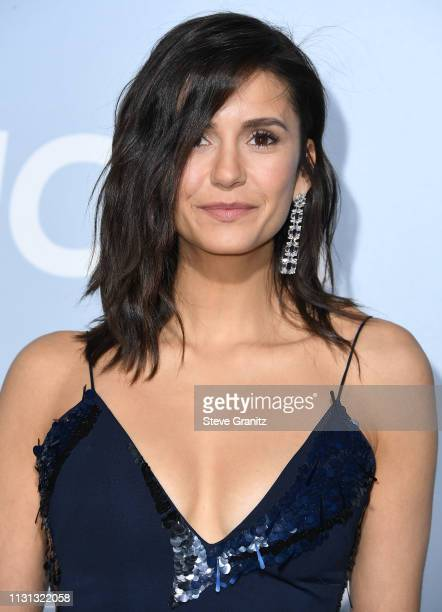 Nina Dobrev arrives at the Hollywood For Science Gala at Private Residence on February 21 2019 in Los Angeles California