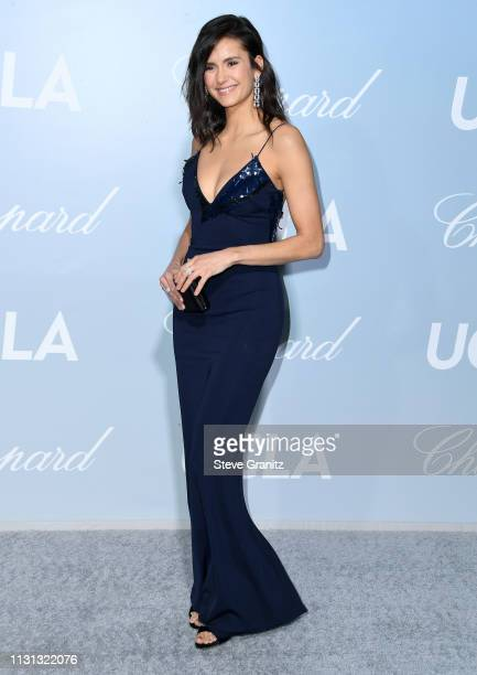 Nina Dobrev arrives at the Hollywood For Science Gala at Private Residence on February 21, 2019 in Los Angeles, California.