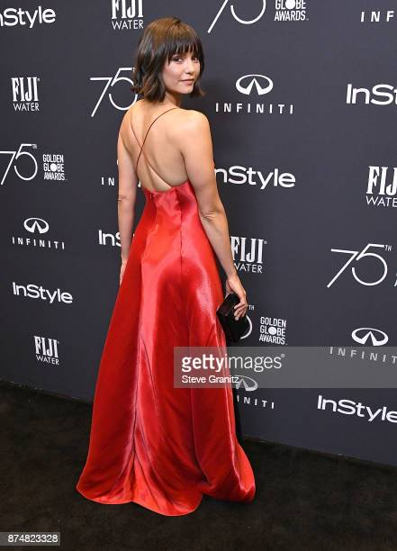 Nina Dobrev arrives at the Hollywood Foreign Press Association And InStyle Celebrate The 75th Anniversary Of The Golden Globe Awards at Catch LA on...