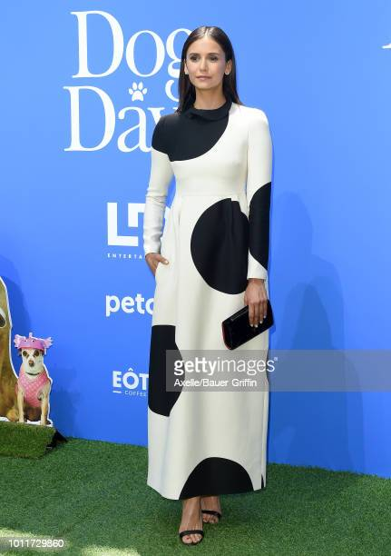 Nina Dobrev arrives at the premiere of LD Entertainment's 'Dog Days' at Westfield Century City on August 5 2018 in Century City California