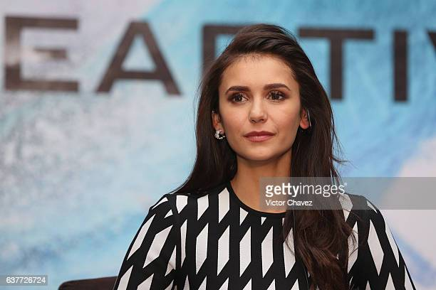 """Nina Dobrev attends a press conference to promote the Paramount Pictures film """"xXx: Return of Xander Cage"""" at St. Regis Hotel on January 5, 2017 in..."""