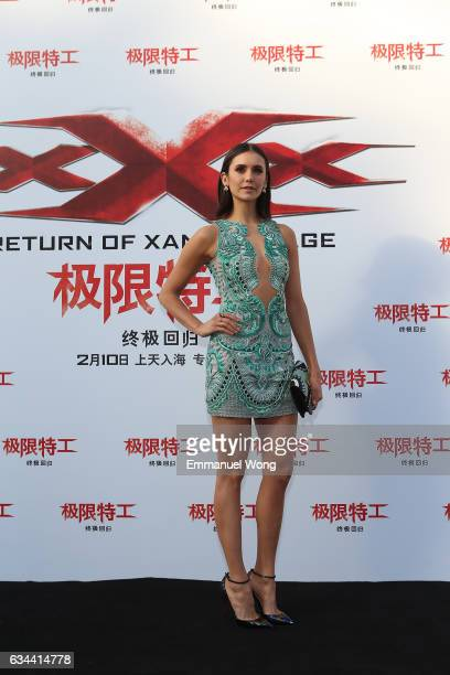 Nina Dobrev attends a press conference/red carpet for the Paramount Pictures title 'xXx Return of Xander Cage' on February 9 2017 in Beijing China