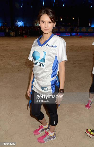 Nina Dobrev attends DIRECTV'S 7th Annual Celebrity Beach Bowl at DTV SuperFan Stadium at Mardi Gras World on February 2 2013 in New Orleans Louisiana