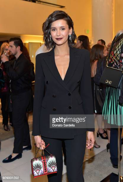 Nina Dobrev attends Giorgio Armani's celebration of 'The Shape of Water' hosted by Roberta Armani on March 3 2018 in Beverly Hills California