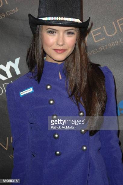 Nina Dobrev attends HEIDI KLUM'S 10TH ANNUAL HALLOWEEN PARTY PRESENTED BY MSN AND SKYY VODKA at Voyeur on October 31 2009 in West Hollywood CA