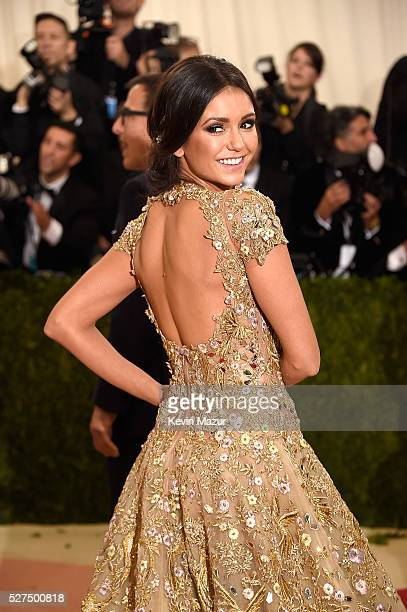Nina Dobrev attends Manus x Machina Fashion In An Age Of Technology Costume Institute Gala at Metropolitan Museum of Art on May 2 2016 in New York...