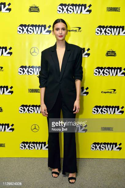 Nina Dobrev attends Run This Town Premiere during the 2019 SXSW Conference and Festivals at Stateside Theater on March 9 2019 in Austin Texas