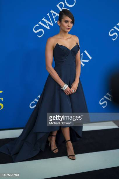 Nina Dobrev attends the 2018 CFDA Fashion Awards at Brooklyn Museum on June 4 2018 in New York City