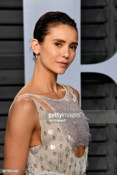Nina Dobrev attends the 2018 Vanity Fair Oscar Party hosted by Radhika Jones at Wallis Annenberg Center for the Performing Arts on March 4 2018 in...