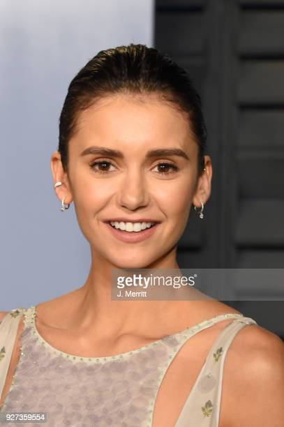 Nina Dobrev attends the 2018 Vanity Fair Oscar Party hosted by Radhika Jones at the Wallis Annenberg Center for the Performing Arts on March 4 2018...