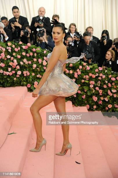 Nina Dobrev attends The 2019 Met Gala Celebrating Camp Notes On Fashion Arrivalsat The Metropolitan Museum of Art on May 6 2019 in New York City
