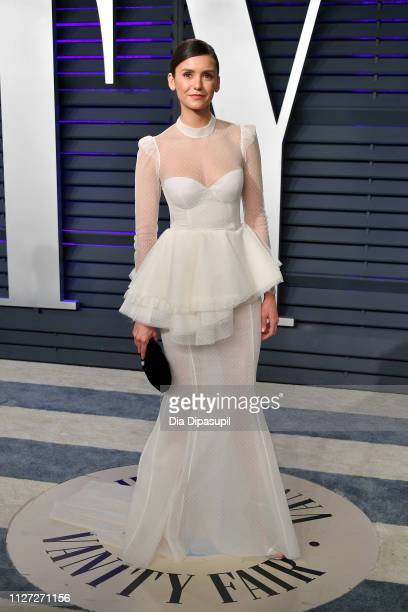 Nina Dobrev attends the 2019 Vanity Fair Oscar Party hosted by Radhika Jones at Wallis Annenberg Center for the Performing Arts on February 24, 2019...