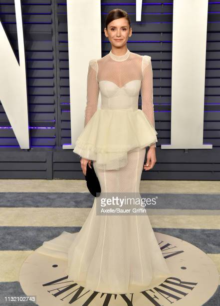 Nina Dobrev attends the 2019 Vanity Fair Oscar Party Hosted By Radhika Jones at Wallis Annenberg Center for the Performing Arts on February 24 2019...
