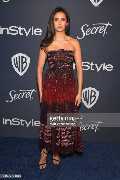 Nina Dobrev attends The 2020 InStyle And Warner Bros. 77th Annual Golden Globe Awards Post-Party at The Beverly Hilton Hotel on January 05, 2020 in...