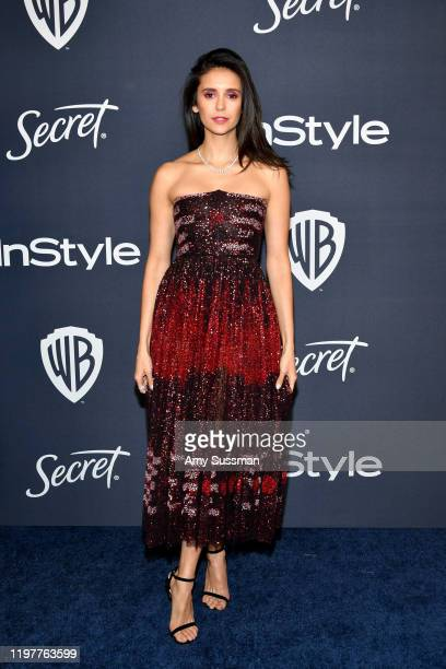 Nina Dobrev attends the 21st Annual Warner Bros. And InStyle Golden Globe After Party at The Beverly Hilton Hotel on January 05, 2020 in Beverly...