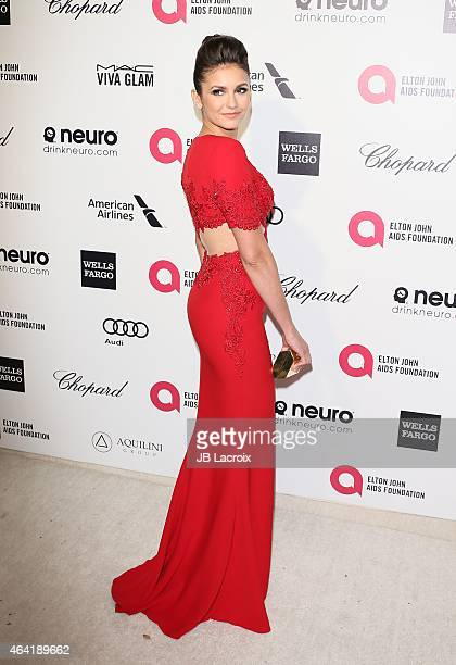 Nina Dobrev attends the 23rd Annual Elton John AIDS Foundation Academy Awards Viewing Party on February 22 2015 in West Hollywood California