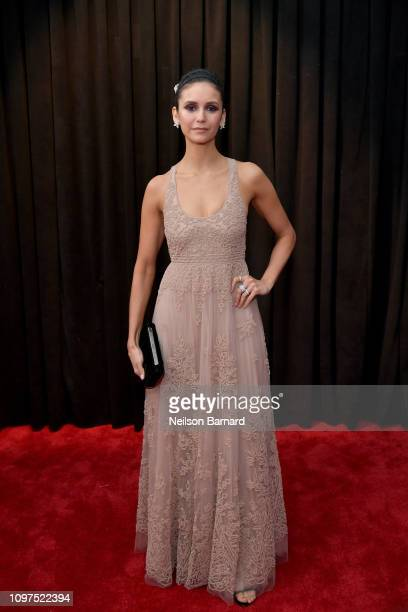 Nina Dobrev attends the 61st Annual GRAMMY Awards at Staples Center on February 10 2019 in Los Angeles California