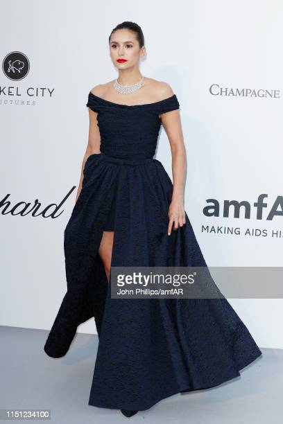 Nina Dobrev attends the amfAR Cannes Gala 2019 at Hotel du Cap-Eden-Roc on May 23, 2019 in Cap d'Antibes, France.