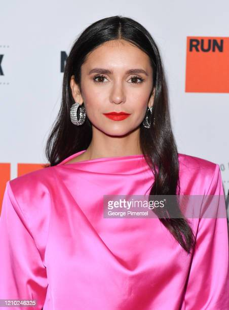 "Nina Dobrev attends the Canadian Premiere of ""Run This Town"" held at Northern Maverick Brewing Co on March 03, 2020 in Toronto, Canada."