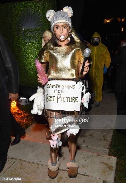 Nina Dobrev attends the Casamigos Halloween Party on October 26, 2018 in Beverly Hills, California.