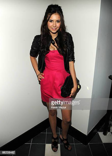 NEW YORK MAY 21 *EXCLUSIVE* Nina Dobrev attends the CW Network's 2009 Upfront party at Gramercy Park Hotel on May 21 2009 in New York City