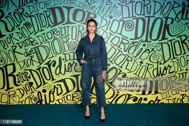 Nina Dobrev attends the Dior Men's Fall 2020 Runway Show on December 03 2019 in Miami Florida