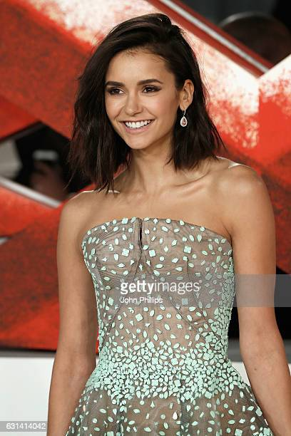 "Nina Dobrev attends the European premiere of ""xXx"": Return of Xander Cage' at Cineworld 02 Arena on January 10, 2017 in London, United Kingdom."