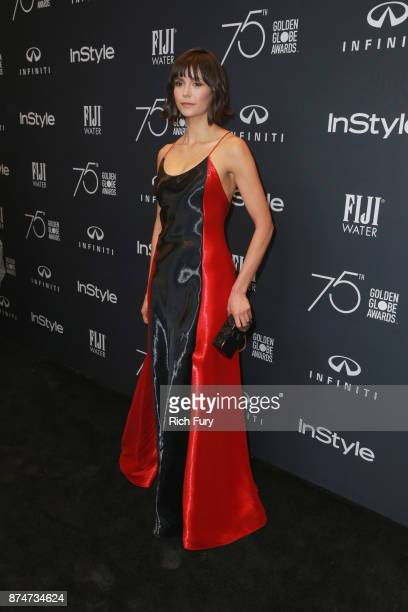 Nina Dobrev attends the Hollywood Foreign Press Association and InStyle celebrate the 75th Anniversary of The Golden Globe Awards at Catch LA on...