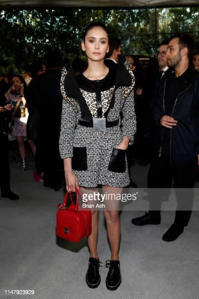 Nina Dobrev attends the Louis Vuitton Cruise 2020 Fashion Show at JFK Airport on May 08 2019 in New York City