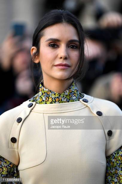 Nina Dobrev attends the Louis Vuitton show as part of the Paris Fashion Week Womenswear Fall/Winter 2019/2020 on March 05 2019 in Paris France