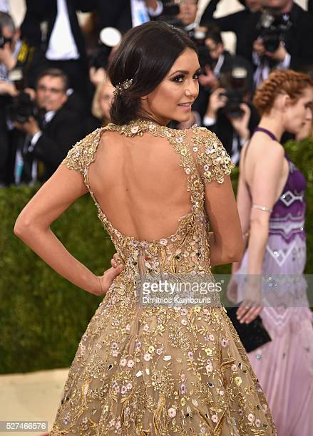 Nina Dobrev attends the Manus x Machina Fashion In An Age Of Technology Costume Institute Gala at Metropolitan Museum of Art on May 2 2016 in New...
