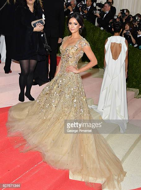 Nina Dobrev attends the 'Manus x Machina Fashion in an Age of Technology' Costume Institute Gala at the Metropolitan Museum of Art on May 2 2016 in...