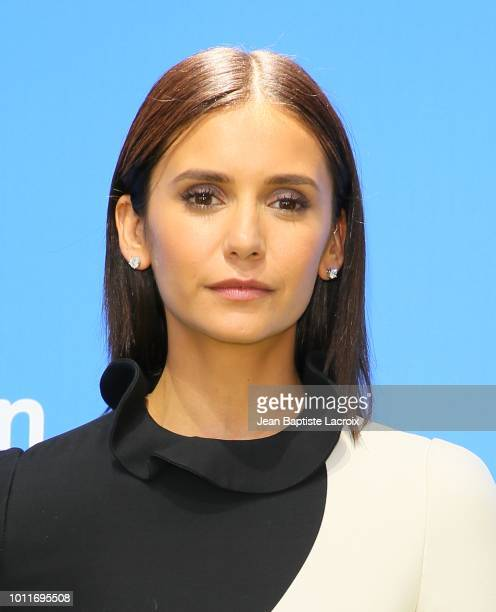 Nina Dobrev attends the premiere of LD Entertainment's 'Dog Days' at Westfield Century City on August 5 2018 in Century City California