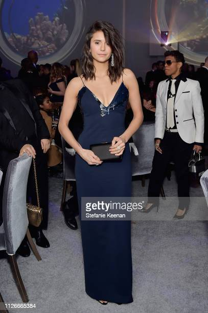 Nina Dobrev attends the UCLA IoES honors Barbra Streisand and Gisele Bundchen at the 2019 Hollywood for Science Gala on February 21 2019 in Beverly...