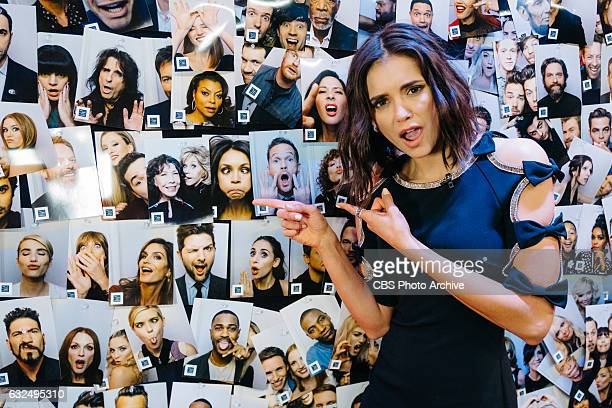 Nina Dobrev backstage during The Late Late Show with James Corden Thursday January 19 2017 On The CBS Television Network