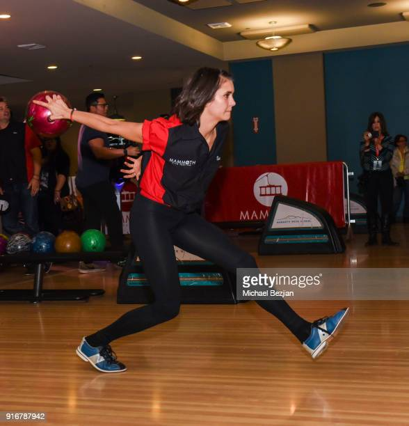 Nina Dobrev bowls at The Inaugural Mammoth Film Festival on February 10 2018 in Mammoth Lakes California