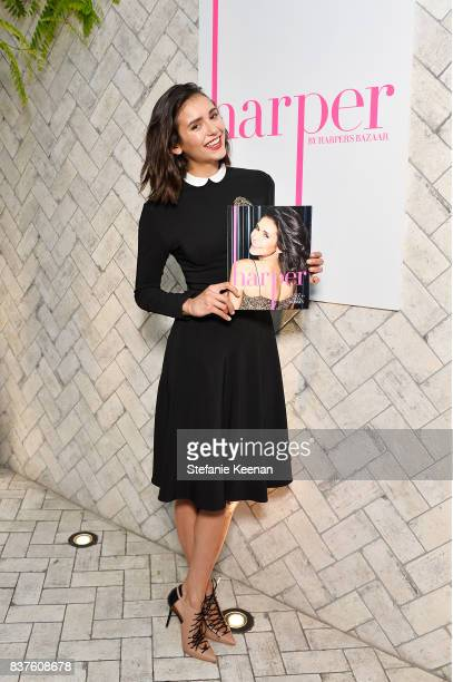 Nina Dobrev celebrates the harper by Harper's BAZAAR September Issue with an Event Presented By Sephora In LA at Rosaline on August 22 2017 in West...